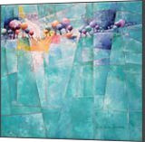 Landscape and trees in turquoise, Paintings, Abstract,Fauvism,Fine Art, Figurative,Floral,Landscape,Nature, Oil, By Beatrice BEDEUR