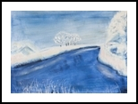 Landscape in winter, Paintings, Fine Art, Landscape, Oil,Painting, By Claudia Luethi alias Abdelghafar