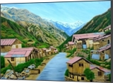 Landscape Sikkim, Paintings, Expressionism, Landscape, Canvas, By Ajay Harit