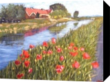 Landscape with poppies, Paintings, Impressionism, Landscape, Oil, By Elena Sokolova
