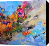 """LARGE painting """"Spring composition"""", Paintings, Abstract, Botanical,Composition,Decorative,Fantasy,Floral,Landscape,Nature, Acrylic,Canvas, By Irini Karpikioti"""