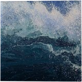 """LARGE painting """"Waves"""", Paintings, Abstract, Landscape,Nature,Seascape, Acrylic,Canvas, By Irini Karpikioti"""