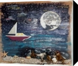 Last Boat In, Assemblage, Impressionism, Seascape, Mixed, By Briz Conard