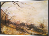 Last of the Falling Leaves, Paintings, Impressionism, Landscape, Watercolor, By Stephen Keller