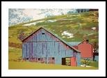 Late Winter Snow, Printmaking, Expressionism, Landscape, Ink, By Thomas J Norulak