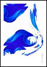 Lava Bleue, Digital Art / Computer Art,Paintings, Abstract, 3-D, Acrylic,Digital, By Sévi Cabell Maghee