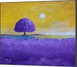 Lavender Tree, Paintings, Impressionism, Landscape, Canvas, By Alicia Maury Fine Art