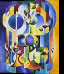 Le fruit defendu, Paintings, Cubism, Floral,Nature,Still Life, Canvas, By Beatrice BEDEUR