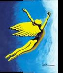 Leap of Faith, Paintings, Symbolism, Avant-Garde, Acrylic, By Curtis Dickman