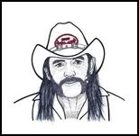 Lemmy, Illustration, Pop Art, Music,People,Portrait, Ink, By Steven Hart
