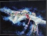 Les couleurs de l espace, Paintings, Abstract,Surrealism, Celestial / Space,Landscape, Canvas,Oil, By Beatrice BEDEUR