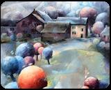 Les soirs bleus, Paintings, Expressionism,Fauvism,Fine Art, Figurative,Floral,Landscape,Nature, Canvas, By Beatrice BEDEUR