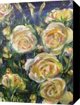 LET LIFE BE LOVABLE LIKE SUMMER ROSES, Paintings, Abstract,Fine Art,Impressionism,Modernism, Botanical,Floral,Nature,Still Life, Acrylic, By HSIN LIN