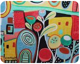 Life's A Jungle, Paintings, Abstract, Decorative, Acrylic, By KARLA A GERARD