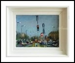 Lights on the 259, Paintings, Impressionism, Landscape, Oil, By Andre Jean Francois Pallat