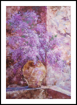 LILAC SPLENDOR, Paintings, Expressionism,Fine Art,Impressionism, Botanical,Floral,Still Life, Acrylic,Canvas, By Emilia Milcheva