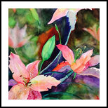 Lily, Illustration, Impressionism, Botanical, Gouache,Mixed, By Mahazabin Farhan