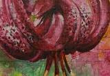 Lily, Paintings, Fine Art, Botanical,Floral,Nature, Acrylic,Canvas, By Marta Kuźniar