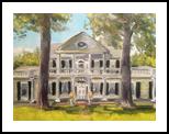 Linden Plantation, Natchez, Paintings, Impressionism, Architecture, Acrylic, By Susan Elizabeth Jones