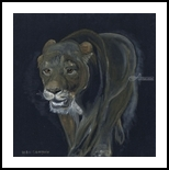 Lion female walking, Paintings, Fine Art, Animals, Oil,Painting, By Claudia Luethi alias Abdelghafar