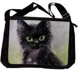 Little black kitty, Paintings, Impressionism, Animals, Watercolor, By Svetlana Vorobyeva