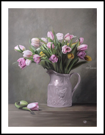 living nature: tulips, Paintings, Fine Art,Photorealism,Realism, Botanical,Composition,Still Life, Oil, By Ivan Pili
