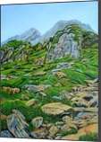 Lofty Rocks in Himalayas, Paintings, Expressionism,Realism, Landscape, Canvas, By Ajay Harit