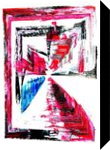Lointain Rouge, Paintings, Abstract, Avant-Garde, Acrylic, By Sévi Cabell Maghee