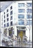London, Architecture, Fine Art, Cityscape, Watercolor, By Eugene Gorbachenko