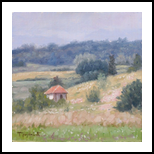 Lonely House, Paintings, Fine Art,Impressionism,Realism, Landscape,Nature, Oil, By Dejan Trajkovic