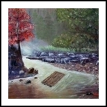 Lost in Yelow River, Paintings, Fine Art,Impressionism,Realism, Landscape, Canvas,Oil, By Mike Chaple