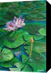 Lotus Pray, Paintings, Impressionism, Floral, Acrylic, By Marion Grant Freeman