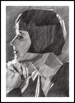 Louise Brooks - 05-05-14, Drawings / Sketch, Abstract,Cubism,Fine Art,Impressionism,Realism, Anatomy,Figurative,Inspirational,People,Portrait, Pencil, By Corne Akkers