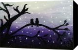 Love Birds, Paintings, Fine Art,Minimalism, Animals,Decorative,Environmental art,Nature,Wildlife, Canvas,Oil,Painting, By Robert Douglas Given