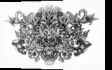 Love Blossoms II, Drawings / Sketch, Symbolism, Decorative, Ink,Pencil, By Veronika Dika