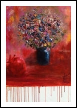 Love Bouquet, Paintings, Fine Art, Floral,Nature, Canvas,Oil, By Anael Sunny