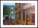 Love in Paris Boulevard, Paintings, Fine Art,Impressionism,Realism, Cityscape,Composition, Canvas,Oil, By Mike Chaple