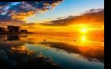 Low tide sunrise, Photography, Fine Art,Photorealism, Landscape,Seascape, Photography: Metal Print,Photography: Photographic Print,Photography: Premium Print,Photography: Stretched Canvas Print, By Claudia Mottram