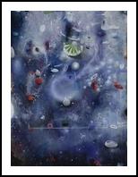 Lunar, Paintings, Abstract, Landscape, Oil, By J Antonio Farfan