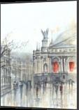 Lviv Opera, Paintings, Fine Art, Architecture,Cityscape, Watercolor, By Eugene Gorbachenko