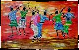 Maasai Women Celebration, Paintings, Fine Art, Dance, Acrylic, By Smita Biswas