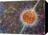 Magnetar X-11, Paintings, Impressionism, Celestial / Space, Acrylic, By Marion Grant Freeman