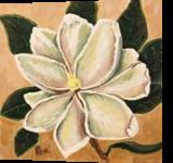 Magnolia Bloom #3, Paintings, Impressionism, Botanical,Floral, Canvas, By Pamela D Cauley