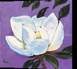 Magnolia Bloom #4, Paintings, Impressionism, Botanical,Floral, Canvas, By Pamela D Cauley