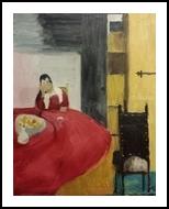 Maid Asleep, Paintings, Impressionism, People, Oil, By MD Meiser
