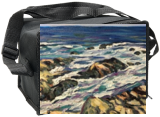 Maine Coast- Along the Marginal Way, Paintings, Impressionism, Seascape, Oil,Painting, By Richard John Nowak