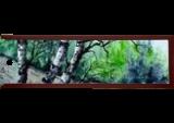 Maine Woods, Paintings, Fine Art, Landscape, Watercolor, By james Allen lagasse