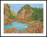 Making Its Way- Alaknanda, Koteshwar, Paintings, Realism, Landscape, Canvas, By Ajay Harit