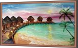 Maldive, Drawings / Sketch,Paintings, Fine Art,Romanticism, Nature, Canvas,Oil,Painting, By Irina Bardita