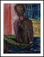 man - doll, Paintings, Expressionism,Fine Art,Modernism,Opticality,Symbolism, Composition,Decorative,Fantasy,Inspirational,Narrative,Portrait, Canvas,Oil,Painting, By Kate Mikhatova